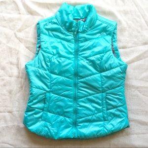 Aeropostale Light Blue Teal Puffer Vest Size L